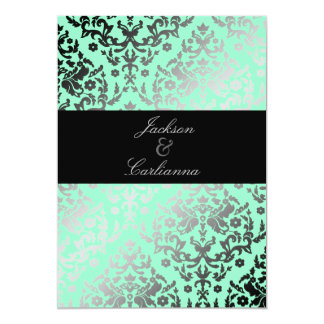 311 Dazzling Damask Mint Card