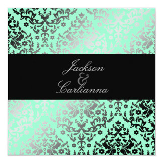 311 Dazzling Damask Mint Green Card