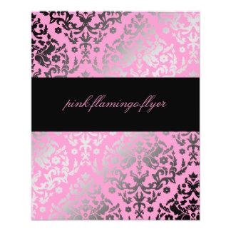 311-Dazzling Damask Pink Flamingo Flyer