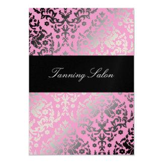 311 Dazzling Damask Pink Flamingo Gold Metallic Card