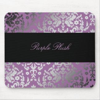 311-Dazzling Damask Purple Plush Mouse Pad