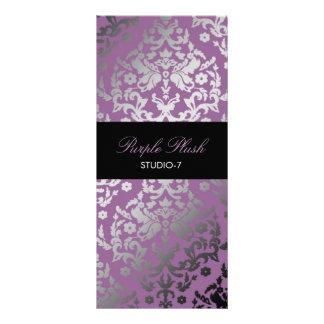 311 Dazzling Damask Purple Plush Custom Rack Card