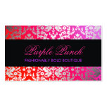 311 Dazzling Damask Purple Punch Double-Sided Standard Business Cards (Pack Of 100)