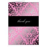 311-Dazzling Damask Thank You Pink Card