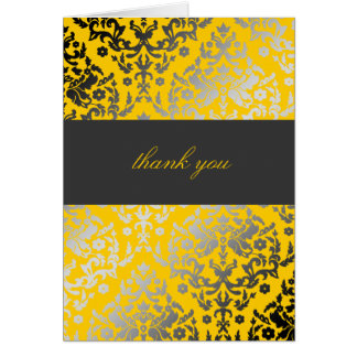 311-Dazzling Damask Thank You Yellow Card