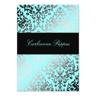 311 Dazzling Damask Turquoise Blue Card