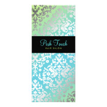 311 Dazzling Damask Turquoise & Lime Black Rack Card