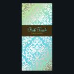 "311 Dazzling Damask Turquoise &amp; Lime Rack Card<br><div class=""desc"">Design by Jill McAmis,  copyright 2010.</div>"