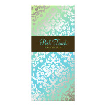 311 Dazzling Damask Turquoise & Lime Rack Card
