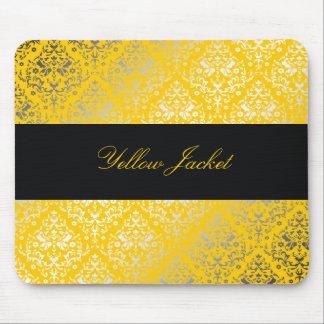 311-Dazzling Damask Yellow Jacket Mouse Pad