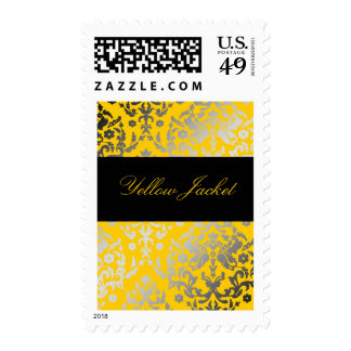 311-Dazzling Damask Yellow Jacket Postage