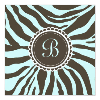 311- Delectably Cute - Brown n' Blue Zebra Card
