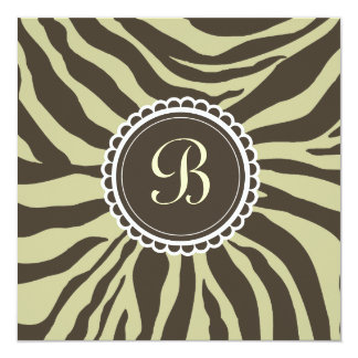 311- Delectably Cute - Brown n' Moss Zebra Card