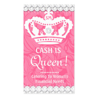 311 diamantes de las costuras de la corona tarjetas de visita