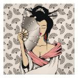 311-Diamond fondo de la fan del geisha el | Invitaciones Personales