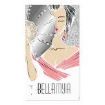 311-Diamond Geisha   Gray Shimmer Business Card