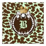 311 Diamond Medallion Leopard Brown Mint Green Card