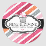 311 Divine Dotted Stripes Cupcakes Sticker