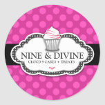 311 Divine Pink Dots Cupcakes Stickers