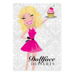 311 Dollface Desserts Blondie Damask 3.5 x 2 Business Cards