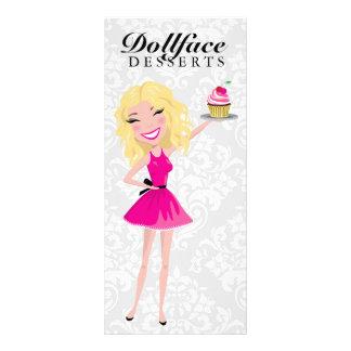 311 Dollface Desserts Blondie Damask Menu Rack Card