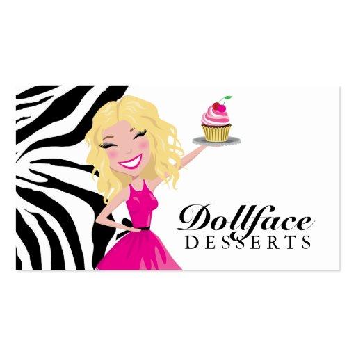 311 Dollface Desserts Blondie Zebra Business Card