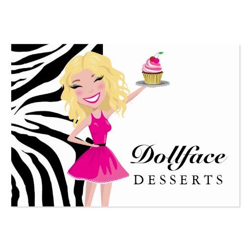 311 Dollface Desserts Blondie Zebra Business Cards