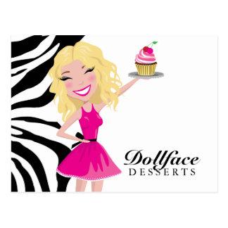 311 Dollface Desserts Blondie Zebra Post Cards