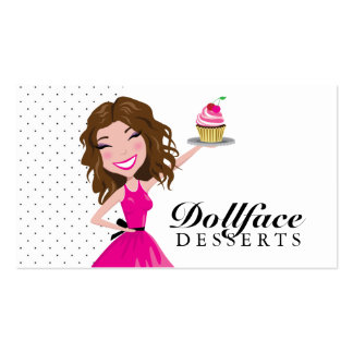 311 Dollface Desserts Brownie Business Card Template