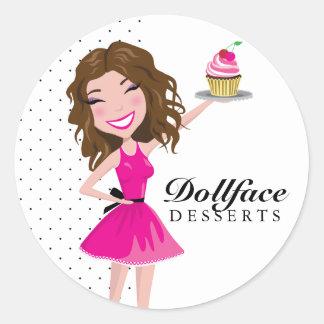 311 Dollface Desserts Brownie Classic Round Sticker