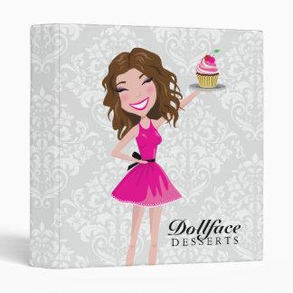 311 Dollface Desserts Brownie Damask Binder