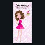 "311 Dollface Desserts Brownie Pink Damask Menu<br><div class=""desc"">Design by Jill McAmis,  copyright 2012.</div>"