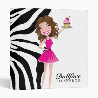 311 Dollface Desserts Brownie Zebra Binder