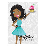 311 Dollface Desserts Ebonie Gift Box Blue 3.5 x 2 Large Business Cards (Pack Of 100)