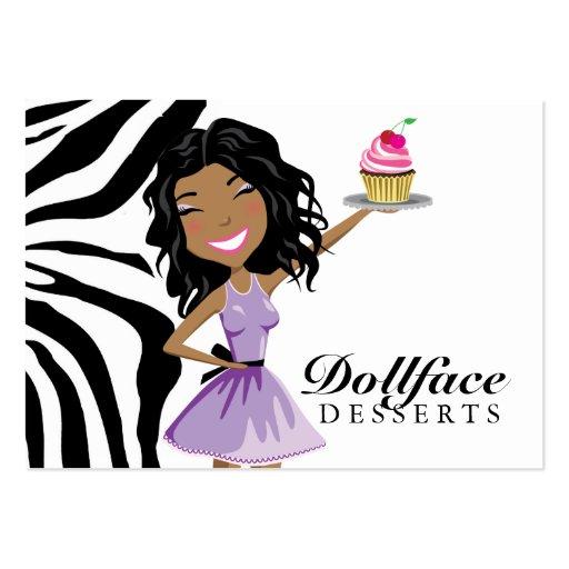 311 Dollface Desserts Ebonie Zebra 3.5 x 2 Business Card