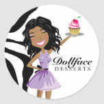 311 Dollface Desserts Ebonie Zebra Sticker