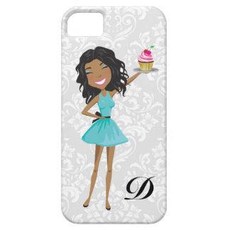 311 Dollface Desserts Gift Box Blue Ebonie Damask iPhone SE/5/5s Case