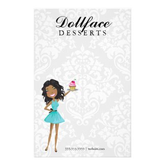 311 Dollface Desserts Gift Box Blue Stationary Stationery Paper