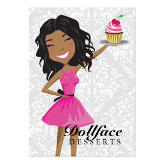 311 Dollface Desserts Hot Pink Ebonie Large Business Cards (Pack Of 100)