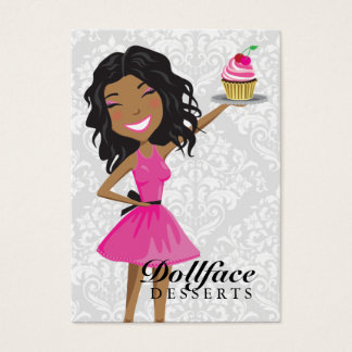 311 Dollface Desserts Hot Pink Ebonie Business Card
