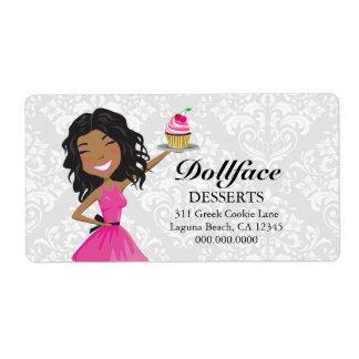 311 Dollface Desserts Hot Pink Ebonie Damask Label