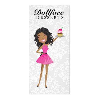 311 Dollface Desserts Hot Pink Ebonie Menu Personalized Rack Card