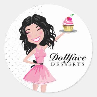311 Dollface Desserts Kohlie Round Sticker
