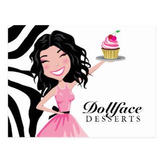 311 Dollface Desserts Kohlie Zebra Post Card