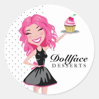 311 Dollface Desserts Pinkie Classic Round Sticker