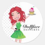 311 Dollface Desserts Rubie Round Stickers