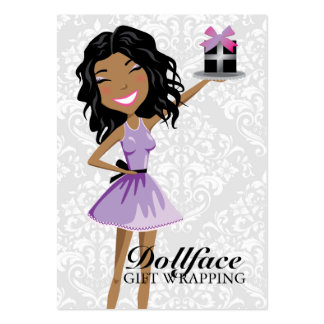311 Dollface Gifts Ebonie Damask 3.5 x 2 Large Business Cards (Pack Of 100)