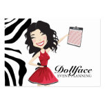 311 Dollface Planner Kimmie Zebra 3.5 x 2 Business Card Template