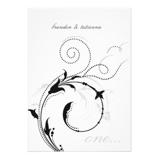 311-Dotted Desire |  Black and White Personalized Announcement