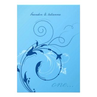 311-Dotted Desire |  Cornflower Blue Personalized Invitations